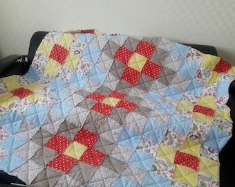 Rag quilt, Patchwork quilt, Rustic quilt