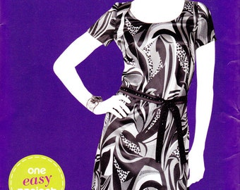 Simplicity 1989 Sew Simple pattern, uncut, misses' pullover dress in sizes 6-18