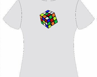 Retro Rubik's Cube Tee / Vintage Rubik's Cube Tee / Vintage Game Tee / Vintage Puzzle Tee / Rubik's Cube