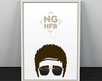 Noel Gallagher's High Flying Birds Poster. Noel Gallagher Illustration. Music, Type, Typography, Illustrated Design.