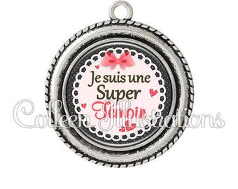Cabochon 25mm pendant I am a Super light wedding - set 4