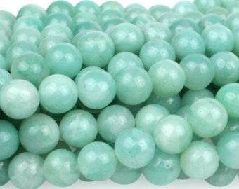 """Dakota Stones Amazonite 6mm Round Gemstones. 8"""" Strand. AMZ6RD-8"""