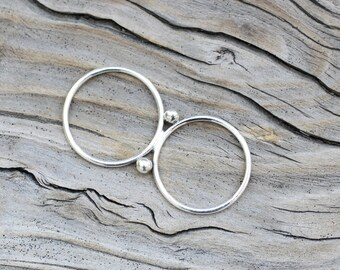 Silver Double Finger Ring, Two Finger Ring, Sterling Silver Ring, Multi Finger Ring, Silver 2 Finger Ring, Double Finger Ring, Handmade Ring