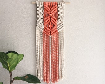 Macrame Patterns/Macrame Pattern/ Macrame Wall Hanging Pattern/Wall Hanging/Modern Macrame/Pattern/DIY/Title: Coral Natural Pattern