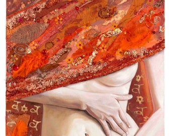 """Orange Seeds 14"""" x 28"""" Signed Limited Edition Giclee on Fine Art Paper"""