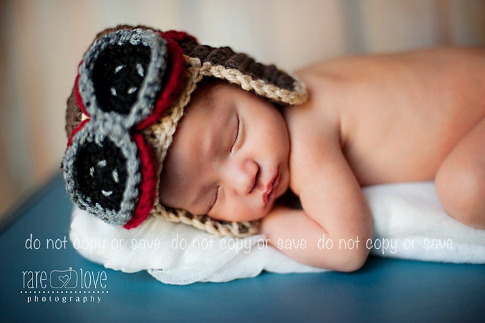 Baby Aviator Hat Baby Boy Hats Brown Aviator Hat With