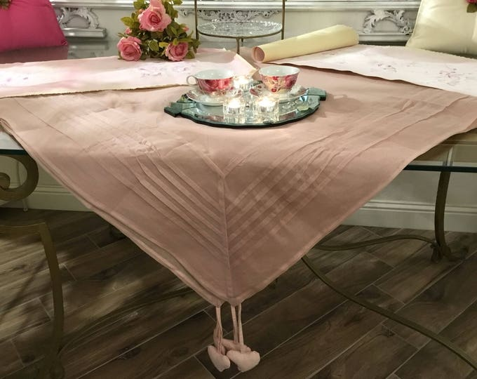 Pink Tablecloth Chic