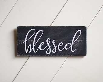 blessed reclaimed wood sign, pallet sign