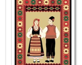Bulgarian Folk Dancers Greeting Card BP23