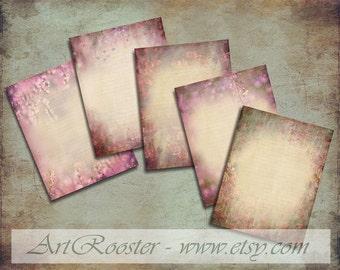 Floral Letter Writing Paper Kit Printable Stationery Set Floral Digital Scrapbook Paper Junk Journal Digital Download Digital Collages