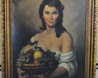 Portrait of Woman  With Fruit