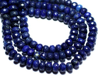 6PC - stone - Lapis Lazuli faceted Rondelle 8x5mm - 8741140007857 beads