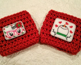 Christmas Coffee Cozy - Snowman Cup Cozy -Winter Cup - Winter Cozy - Coffee Cup - Coffee Cozy - Snowman - Holiday Mail