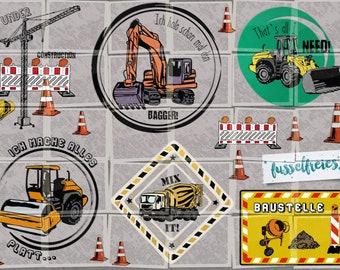 SVG DXF cutting file set Tractor Excavator Truck & Co. Fusselfreies Tipper Dredger Dipper Dump Truck Field Agriculture Farmer Farm
