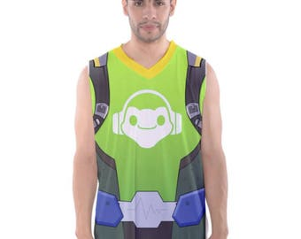 OW Lucio Inspired Sleeveless Cosplay Basketball Tank Top MEN'S SIZE Pre Order