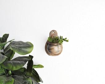 Pottery Wall Planter // Wall Pocket // Wall Decor