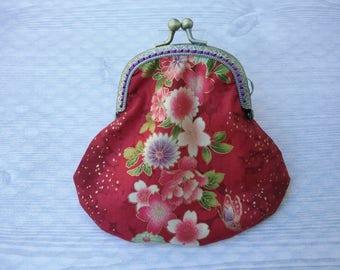 Metal frame coin purse/ Red kiss local purse
