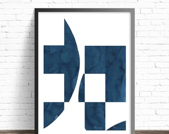 Minimalist art print. Ink print abstract art. Abstract painting print. Modern prints. Abstract print. Modern art print. Decorative prints.