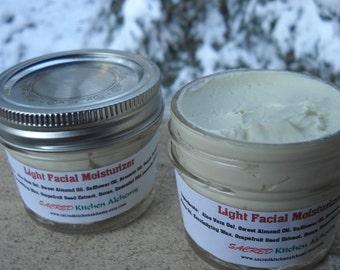 All Natural Light Facial Moisturizer, Light Face Cream, Facial Cream for Younger Skin, All Natural Face Creme