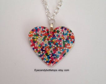 Candy Heart Charm Necklace