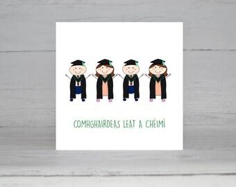 Graduation, Irish Card, Cárta Gaeilge,