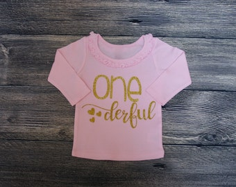 ONEderful | Kids 1st birthday Shirt | Miss Onederful  shirt | Birthday party shirt | girls first birthday