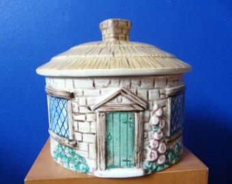 Ceramic English Cottage Covered Bowl