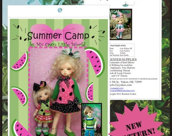 PDF Version- Summer Camp - PATTERN for BJD Tinies 11 - 26cm