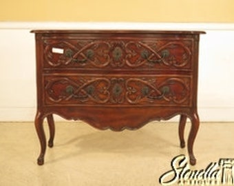 41851E: French Louis XV Style 2 Drawer Mahogany Commode Chest