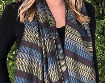Handwoven Cotton Silk Scarf