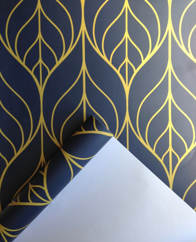 removable wallpaper leaf wallpaper wallpaper peel and stick. Black Bedroom Furniture Sets. Home Design Ideas
