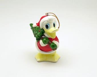 Vintage Christmas Ornament Donald Duck Disney Schmid Japan