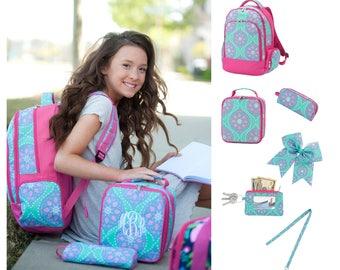Marlee Back to School, Marlee Backpack, Marlee Lunchbox, Marlee Pencil Case, Monogram Backpack, Personalized Backpack, Monogram Bookbag