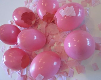 Gender Revealing Pink And Blue Confetti Eggs Cascarones - Special Order for Ashley