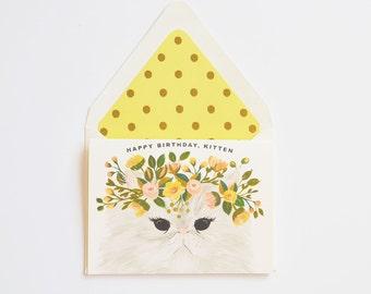 Happy Birthday, Kitten Card