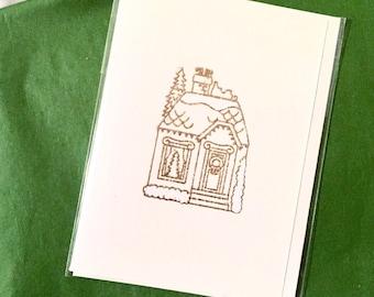 Gingerbread House Mini Card