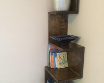 Corner Shelves Shelving Stained