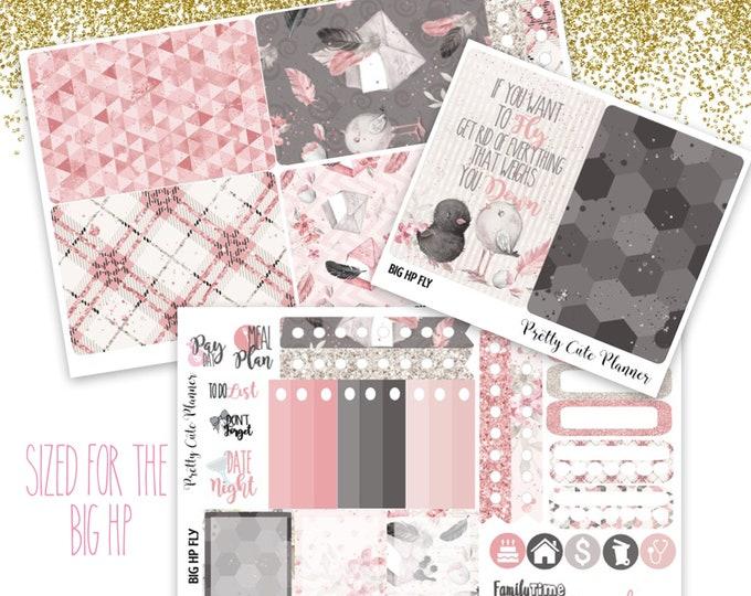 Birdie BIG Happy Planner Planner Stickers - Weekly Planner Sticker Set - Functional stickers - Bird planner stickers - Glitter Mermaid - Fly
