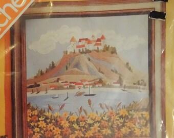Vintage Spinnerin Stitchery Kit Tryolean Scene FREE Shipping USA