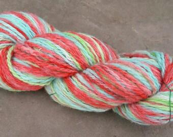 Hand Spun & Dyed British Lleyn Wool