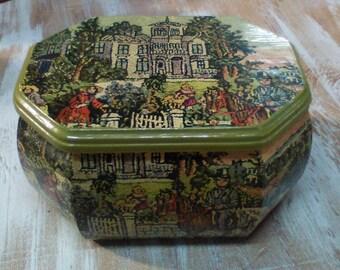 "Vintage Needlepoint, Wooden Memory Box, SMILES Family Friendly Fun ""Growing up ME! Memory Compendium©"" Mary Lynn Savko RoadSideBoutique"