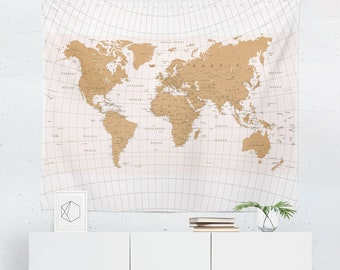 World map wall art etsy world map tapestry map wall tapestry world map wall art world map wall hanging world map art world map wall decor gumiabroncs Images