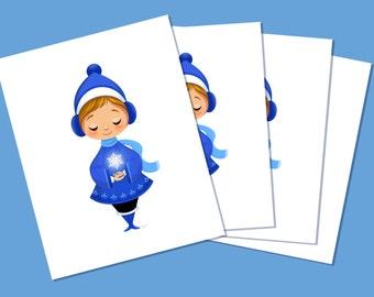 Simple Snowflake Cardset