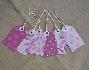 Set of tags for gift wrapping