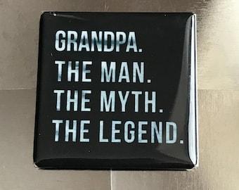 Grandpa...Custom made 1.5 X 1.5 inch magnet