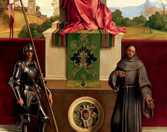 Giorgione: The Madonna and Child Between St. Francis and St. Nicasius. Fine Art Print/Poster. (001928)