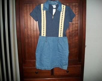 Vintage 90s Denim/Knit Mini Dress Size 6P