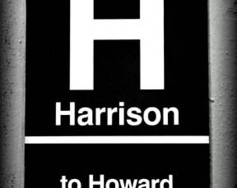 Harrison El Stop - Original Signed Fine Art Photograph