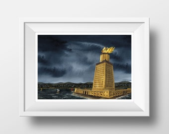 Lighthouse of Alexandria - Signed print