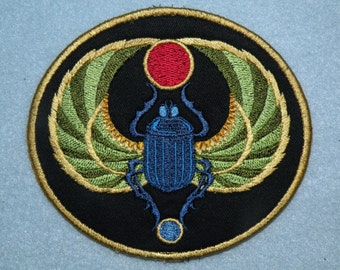 """Egyptian Scarab Iron on Patch 4.56"""" x 4"""""""